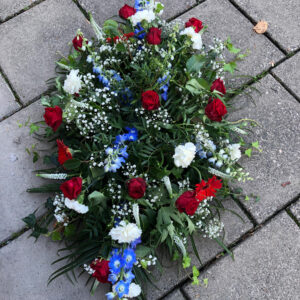Red White Blue Casket Spray