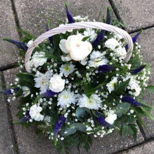 White Purple Basket