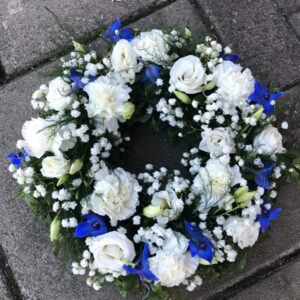 Wreath Blue White