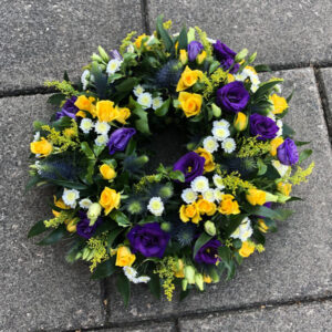 Wreath Purple White Yellow